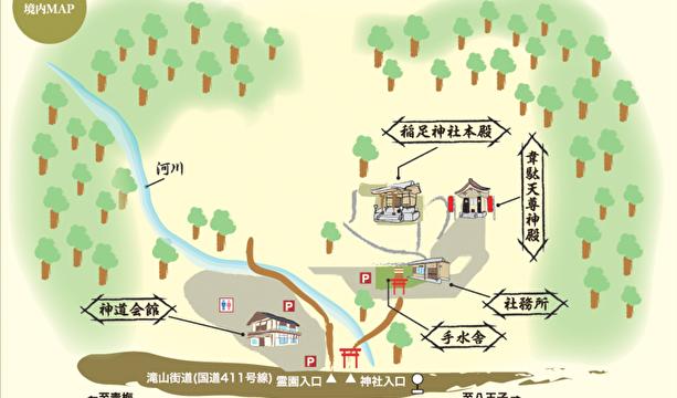 稲足神社見取り図
